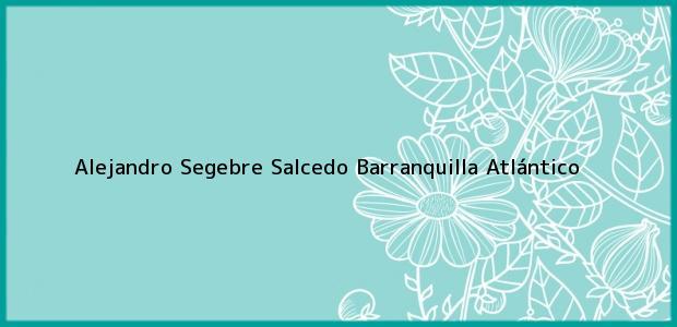 Teléfono, Dirección y otros datos de contacto para Alejandro Segebre Salcedo, Barranquilla, Atlántico, Colombia