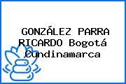 GONZÁLEZ PARRA RICARDO Bogotá Cundinamarca