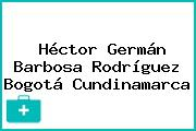 Héctor Germán Barbosa Rodríguez Bogotá Cundinamarca