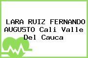LARA RUIZ FERNANDO AUGUSTO Cali Valle Del Cauca