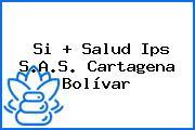 Si + Salud Ips S.A.S. Cartagena Bolívar